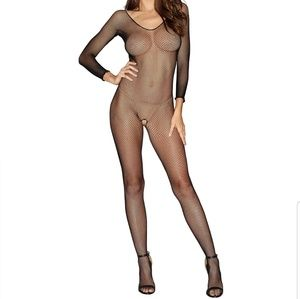 Dreamgirl Queen Size Crotchless Bodystocking